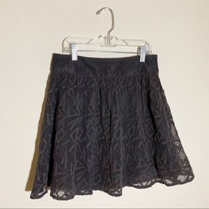 FREE PEOPLE Geometric Lace Mini Skirt